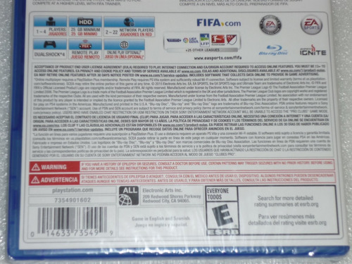fifa 16 ps4 original nuevo sellado solo diversión