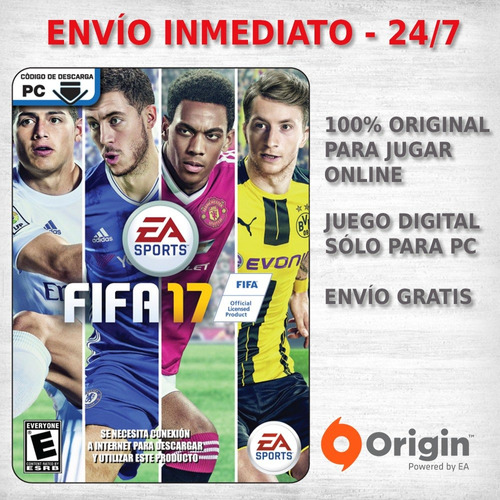 fifa 17 pc juego pc origin codigo digital futbol  deporte