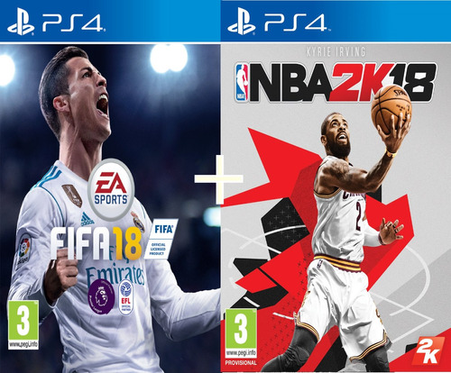 fifa 18 + nba 2k18 2018 juego playstation 4 ps4 oferta
