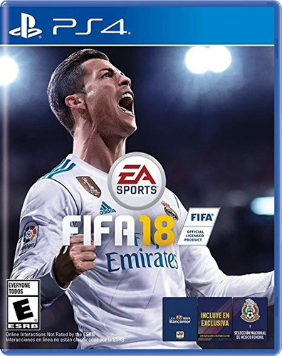 fifa 18 para ps4, nuevo, físico y sellado, audio latino.