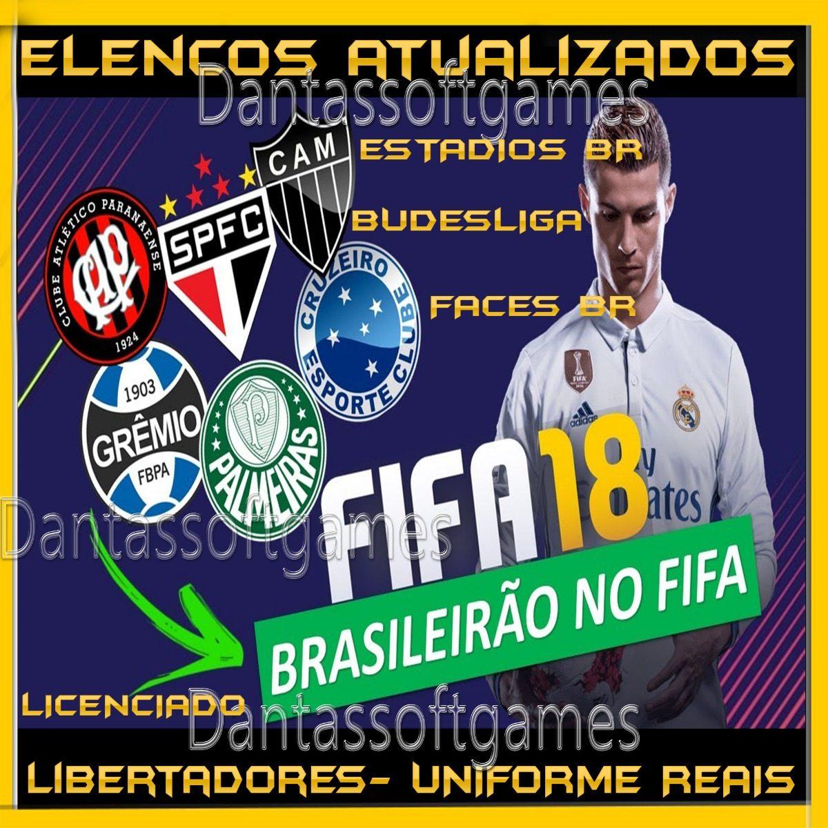 53afe57d00 Fifa 18 Pc + Elencos + Patch Mod Brasileirão + 1 Game Grátis - R  25 ...