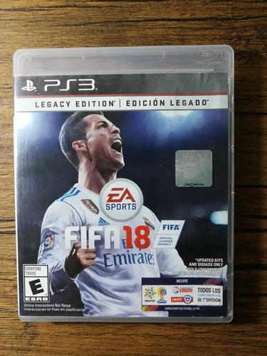 fifa 18 playstation 3 ps3 buen estado !!