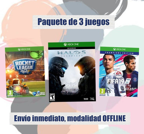 fifa 19 champios edition, halo 5, rocket league deluxe