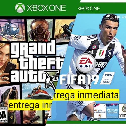 fifa 19 + gta v xbox one offline