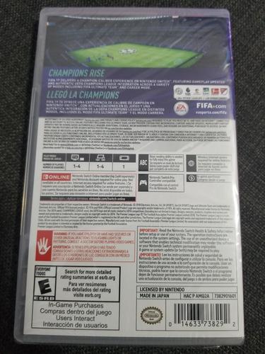 fifa 19 nintendo switch nuevo sellado incluye champions