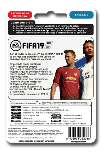 fifa 19 pc origin juego codigo idioma latino ultimate team