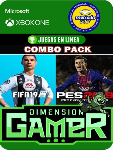 fifa 19 + pes 19 - xbox one - online/offline