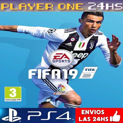 fifa 19 ps4 digital latino | jugá c/ tu usuario | 50% off