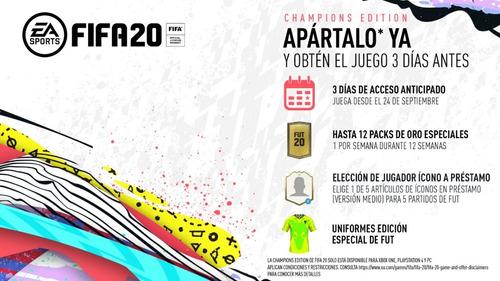 fifa 20 champions edition xbox one original sellado en stock