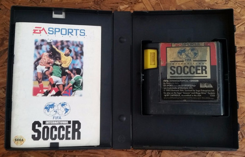 fifa international soccer original mega drive caixa e manual