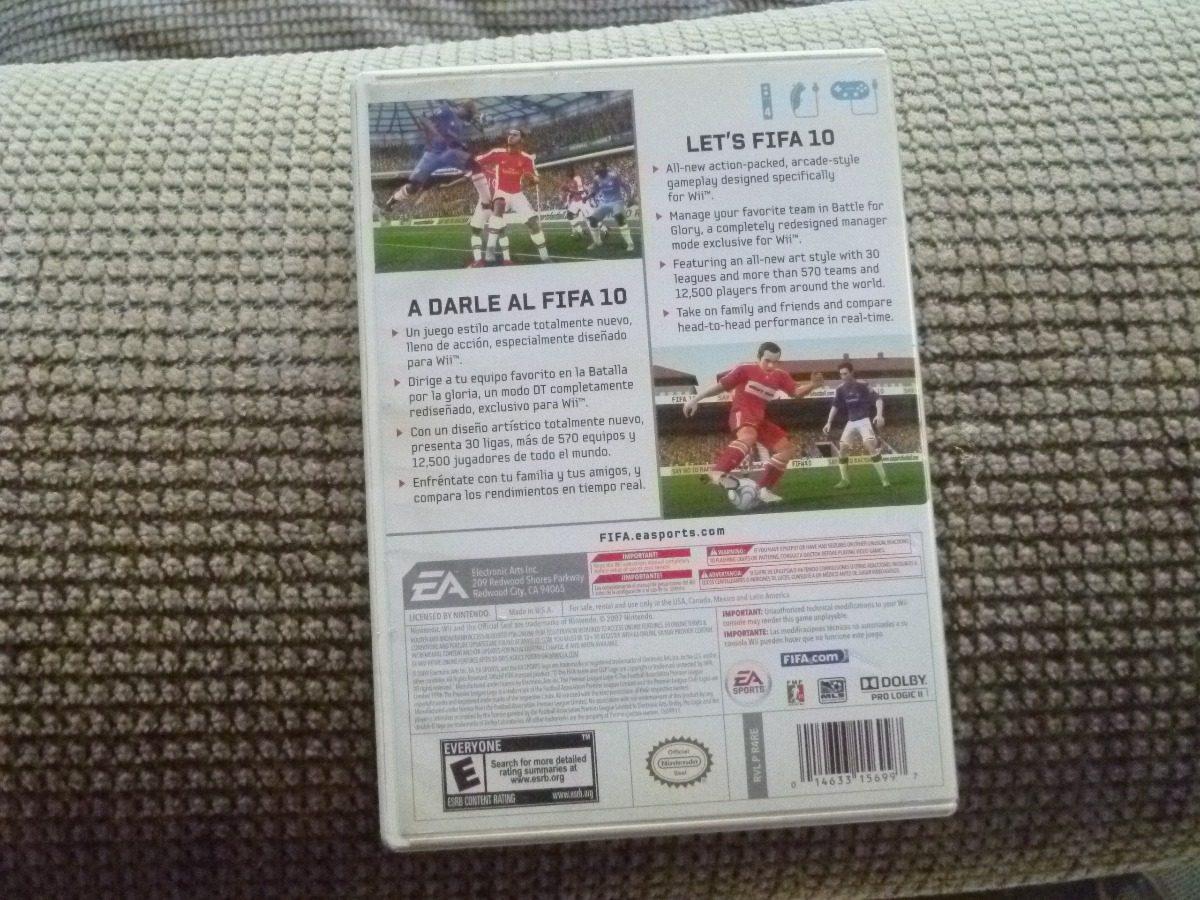 Fifa Soccer 10 Original Completo Para Nintendo Wii Y Wii U 230