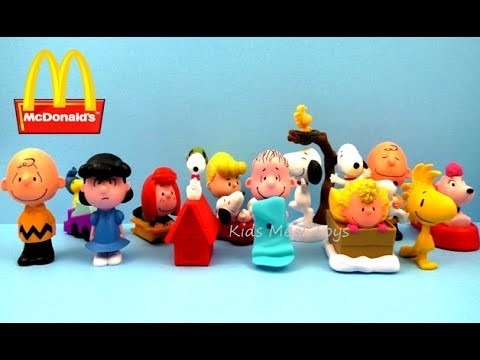 fifi snoopy y charlie brown peanuts  mc donalds 2016