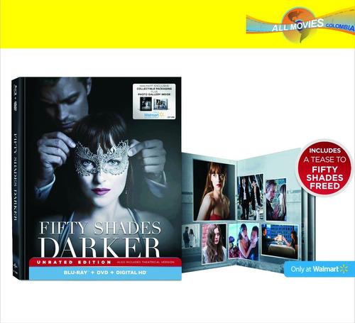fifty shades  darker edición limitada digibook bluray + dvd