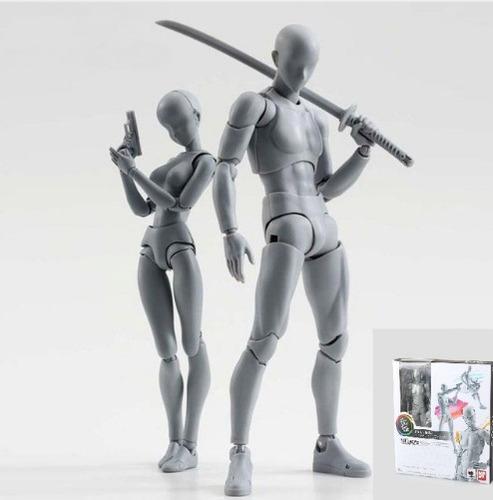 figuarts dx body kun chan homem e mulher gray color bandai