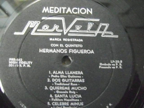 figueroa quintet / meditation  1 disco  lp vinil