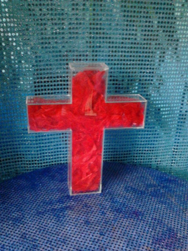 figura acrilico cruz comunion, fiestas, 30cm