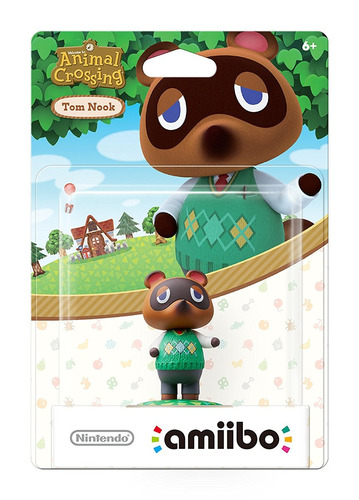 figura amiibo tom nook serie animal crossing nintendo wii u