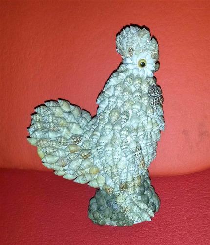 figura antigua gallo caracolitos, colección única 1970