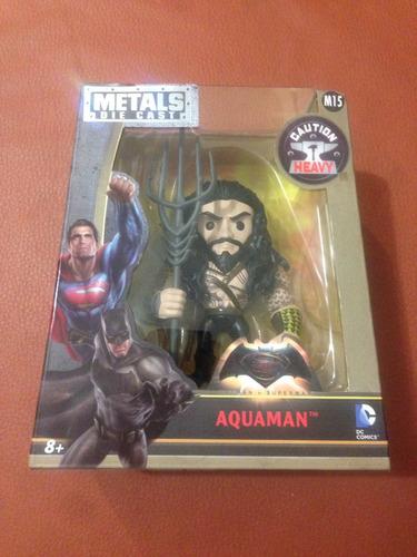 figura aquaman 12 cm metals die cast liga justicia dc comics