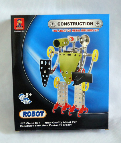 figura bloque metal armable robot