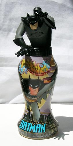 figura botella de batman batman bellywahsers dc comics 2001