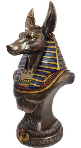 figura busto anubis dios egipcio chacal marca veronese