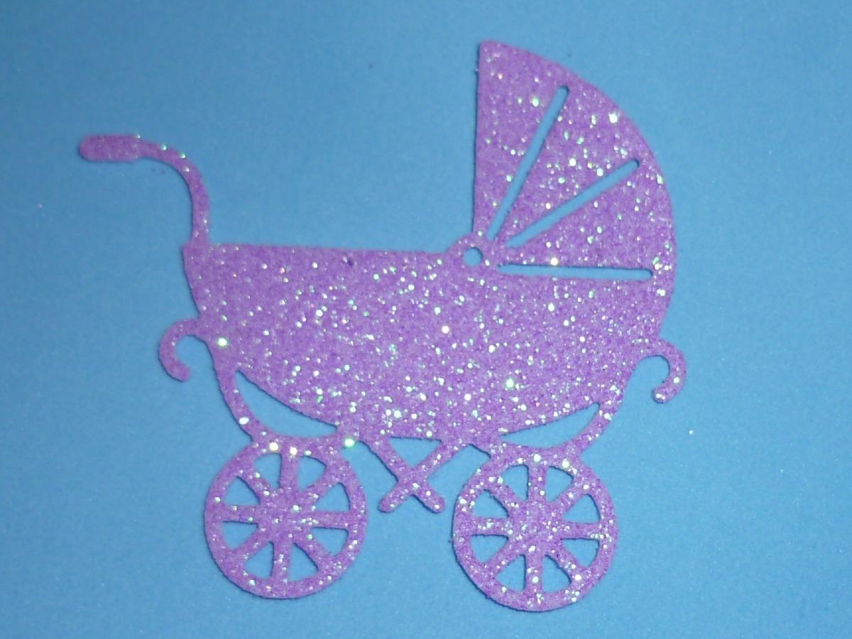 Figura Carrito Bebe Goma Eva Baby Shower 12000 En Mercado - Bebe-de-goma-eva