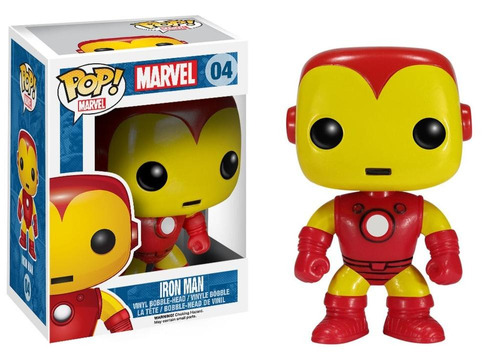 figura coleccionable 4  pop marvel iron man