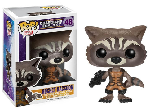 figura coleccionable 4  pop marvel rocket