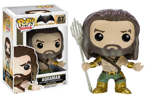 figura coleccionable pop justice league aquaman funko