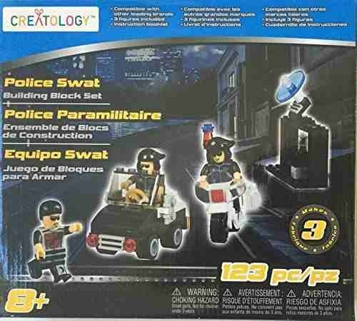 figura creatology police swat building block makes