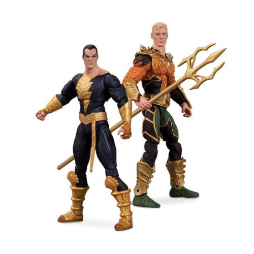 figura dc s injustice aquaman black adam 2 pack