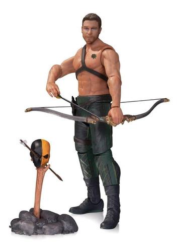 figura de acción oliver queen arrow dc collectibles