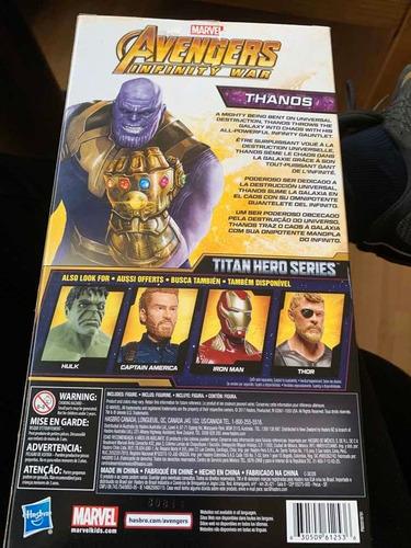 figura de acción thanos avengers infinity war hasbro