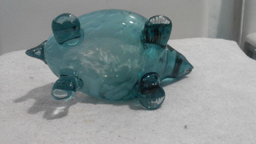 figura de animal en vidrio soplado