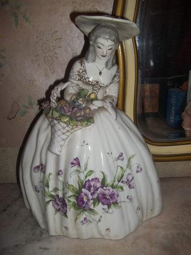 figura de ceramica dama