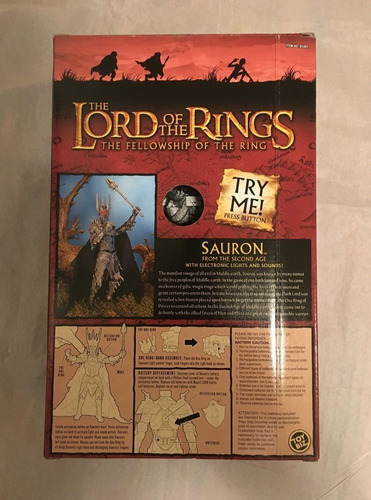 figura de colección del señor de los anillos - sauron