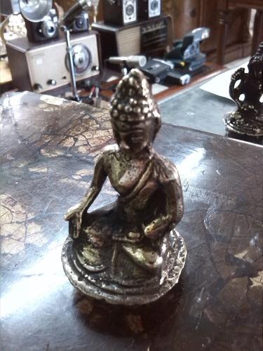 figura de diosa hindu en bronce maciza pequeña