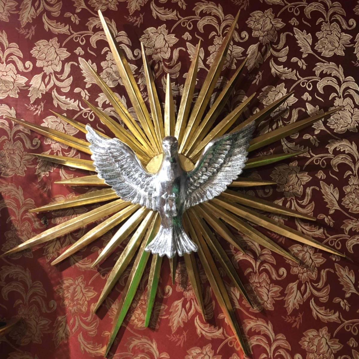 Figura De El Espíritu Santo Recubierto En Hoja De Oro 480000