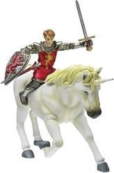 figura de escala de batalla de narnia peter y unicornio