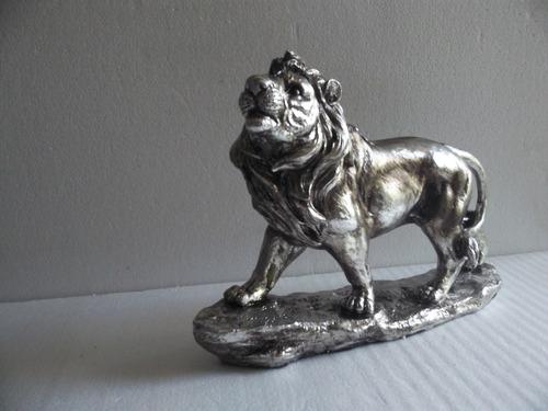 figura de leon en resina 30 cm x 40 cm loligo