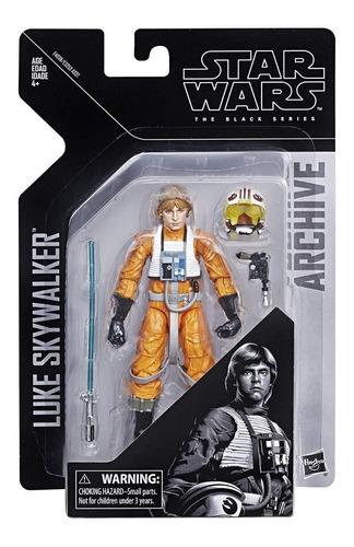 figura de luke skywalker archive star wars  black series