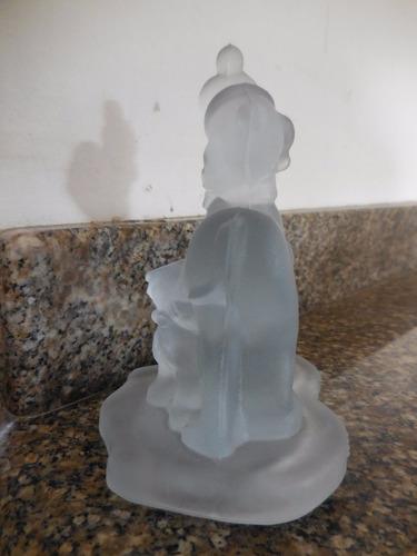 figura de pluto de disney en cristal coleccionable