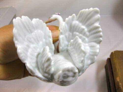 figura de porcelana cisne lladro