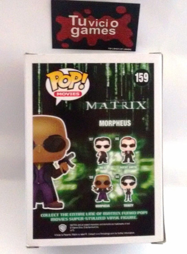 figura de vinil funko morpheus matrix