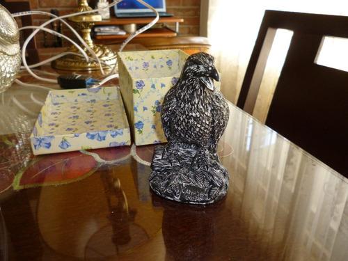 figura decorativa águila canada antimonio simil aluminio