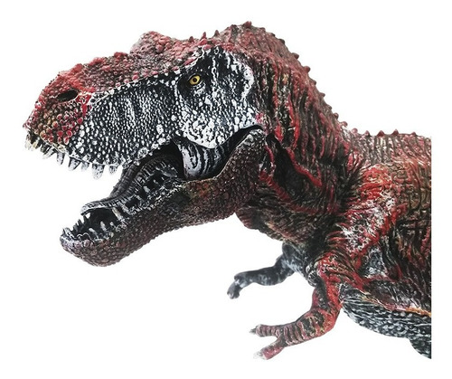 figura dinosaurio tiranosaurio grande detalles pintura rojo