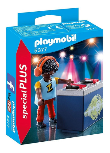 figura dj con accesorios special plus 5377 - playmobil