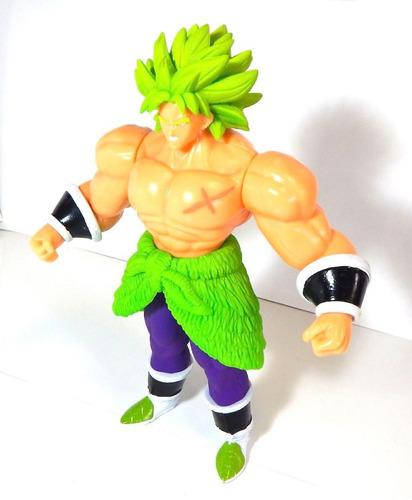 figura dragon ball super broly sayayin juguete luz ssj 27cm