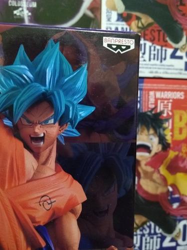 figura dragonball super - goku super saiyan blue - banpresto